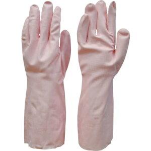ニトリルゴム手袋 裏毛付 ダンロップ 清掃用手袋 L ピンク [7628] 販売単位:1