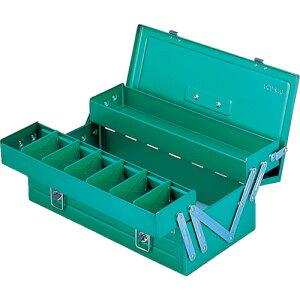 スチール製 工具箱 工具入れ 収納 整理 diy おすすめ 大工道具 ケース リングスター ハイクオリティボックス RSD-470グリーン [RSD-470-GN] 販売単位:1 送料無料