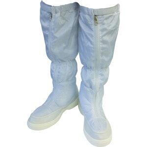 作業靴 ワークシューズ 安全靴 クリーンルーム用シューズ おすすめ 作業用 くつ ブラストン 制電ロングブーツ 24.5 [BSC-515-24.5] 販売単位:1 送料無料