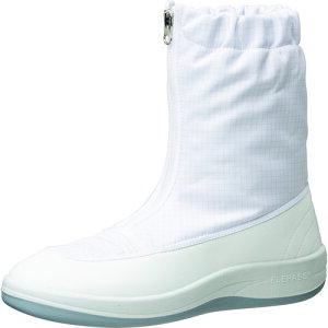 作業靴 ワークシューズ 安全靴 クリーンルーム用シューズ おすすめ 作業用 くつ ミドリ安全 クリーン静電靴 ハーフフード ファスナー式 SU551 21.0CM [SU551-21.0] 販売単位:1 送料無料