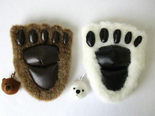 クマの肉球コインパース/小銭入れ/熊/くま サイズ:縦13cm