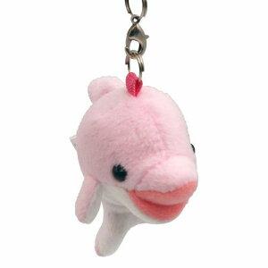 Dimple イルカ PINK 携帯ストラップ ボールチェーンキーホルダー サイズ:5cm