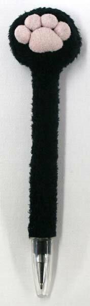 肉球クリーナー付ボールペン BLACK サイズ:H16cm