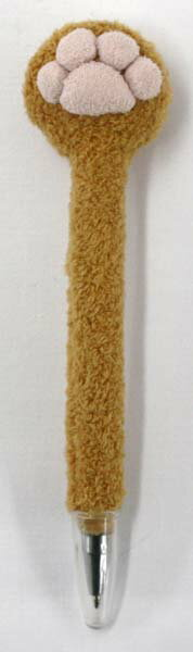 肉球クリーナー付ボールペン BROWN サイズ:H16cm