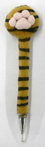 肉球クリーナー付ボールペン タイガー サイズ:H16cm