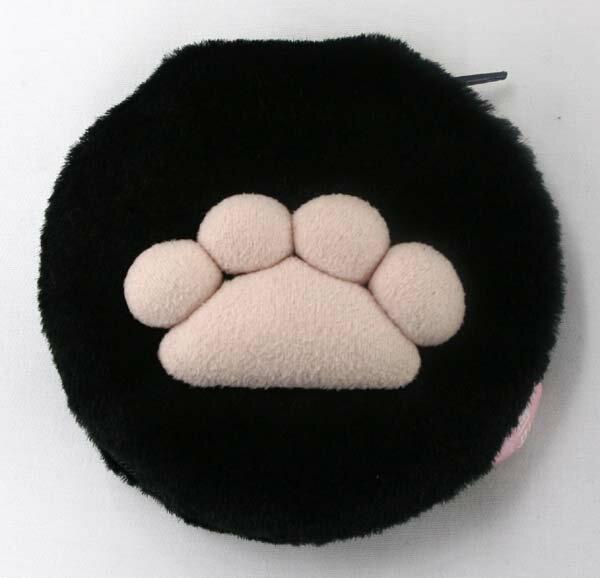 肉球手かがみ BLACK サイズ:10.5cmφ