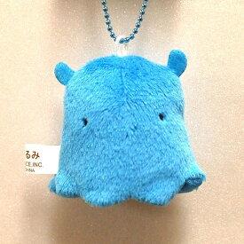 ゆびぐるみキーホルダー メンダコ BLUE サイズ:4.5cm