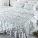 【送料無料】人工 シルク ドルチェA・ セミダブル 4点セット|ウェディングドレス のような デザイン 寝具セット|全サイズオーダ…