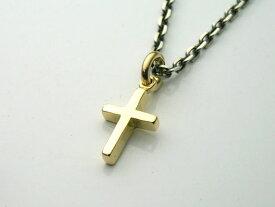 ゴールドアクセサリー 18金製のミディアムクロスペンダントトップ 送料無料! メンズ レディース ネックレス 十字架 ロザリオ キリスト K18 イエローゴールド
