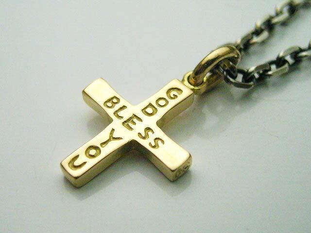 ゴールドアクセサリー 18金製のGBYクロスペンダントトップ(ショートサイズ) (nt035) 送料無料! メンズ レディース ネックレス 十字架 ロザリオ キリスト K18 イエローゴールド