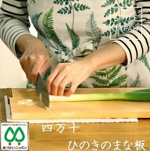 STYLE JAPAN ひのきのまな板 スタンド式 ひっかけフック付き Lサイズ390×240 木製