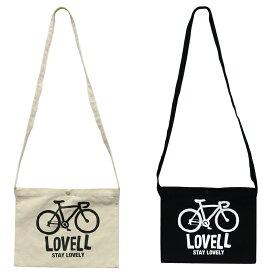サコッシュバッグ サコッシュ ロードバイク ナチュラル ブラック 自転車 ラベル lovell TOP