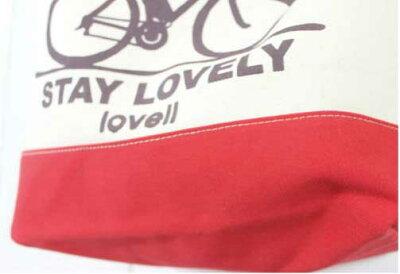 2toneショルダーバッグRB自転車ラベル
