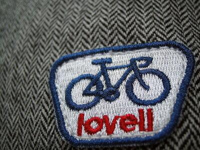 ツイードサコッシュバッグ自転車ラベル