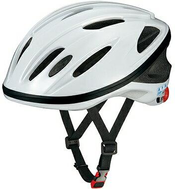 OGK KABUTO(オージーケーカブト) 通学用ヘルメット SN-11 ホワイト 無地テープなし サイズ: 57-60cm ちょっと大きめサイズ