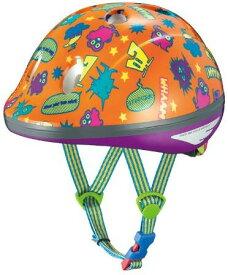 OGK KABUTO(オージーケーカブト) チャイルドメット PEACH KIDS モンスターオレンジ サイズ:47-51cm 幼児用 キックバイク バランスバイク 子供 自転車 ヘルメット サイクルヘルメット TOP