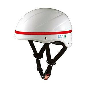 OGK KABUTO(オージーケーカブト) 通学用ヘルメット SN-8 ホワイト レッドテープ付き サイズ:57−59cm 60−62cm通勤 通学 防犯 防災 保護