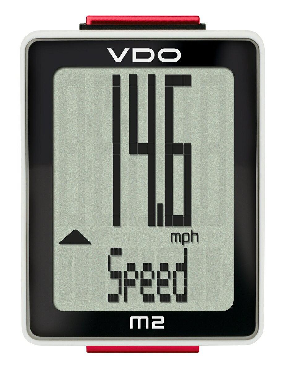 サイクルコンピューター ワイヤレス スピードメーター VDO(バーディオー) M2WL ワイヤレス通信 ドイツブランド サイクルコンピューター 大画面表示 スピード 時間 距離