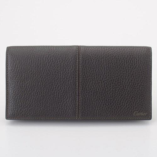 Cartier カルティエ 財布 L3001160 エボニー サドルステッチライン