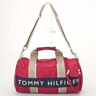 TOMMY HILFIGER トミーヒルフィガー L200230 600 RED/NAVY mini-duffel Boston bag