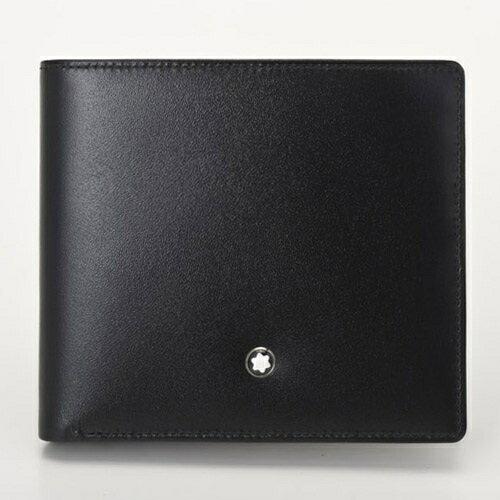 MONTBLANC モンブラン 二つ折り財布 メンズ ブラック 7164