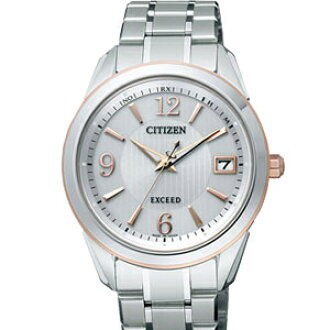 CITIZEN EBG74-5072 exceed eco-drive radio watch Silver Dial men's