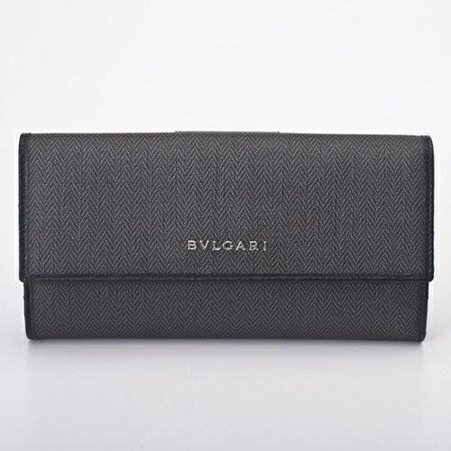 BVLGARI ブルガリ 長財布 メンズ 32589 ブラック ウィークエンド