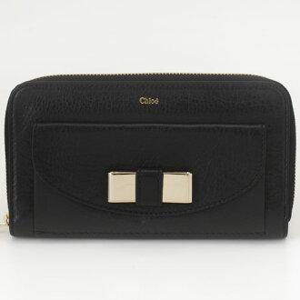 Chloe Kuroe (Chloe) 3P0501-015 001 BLACK LILY Takeru Lily wallet
