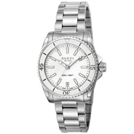 【期間限定ポイント5倍】GUCCI グッチ 腕時計 レディース ダイヴ ホワイト YA136402