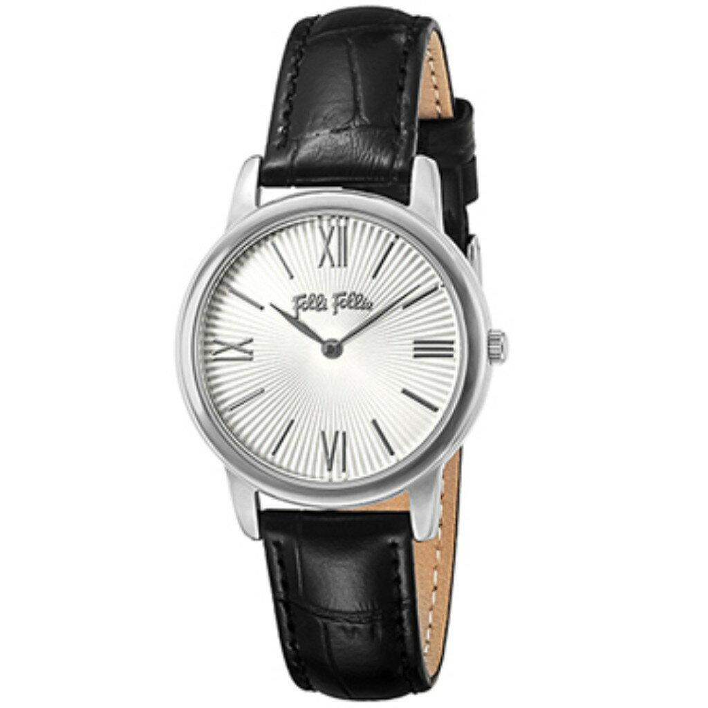【ポイント5倍 10/23 9:59まで】 FolliFollie フォリフォリ 腕時計 レディース WF15T032SPW-BK