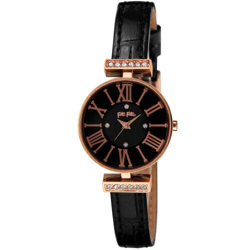 【ポイント5倍 10/23 9:59まで】 FolliFollie フォリフォリ 腕時計 レディース WF13B014SSK-BK