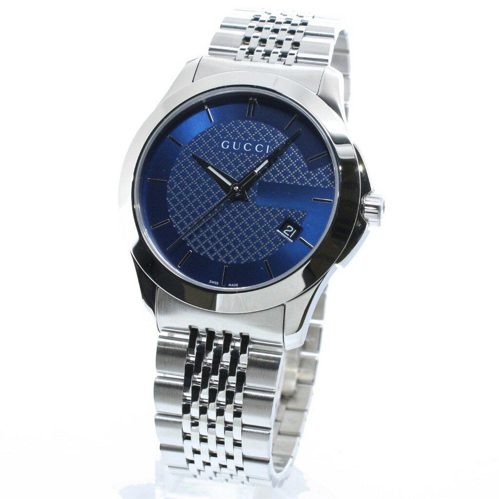 【54時間限定ポイント5倍 3/26 1:56まで】GUCCI グッチ 腕時計 メンズ Gタイムレス YA126481 ブルー