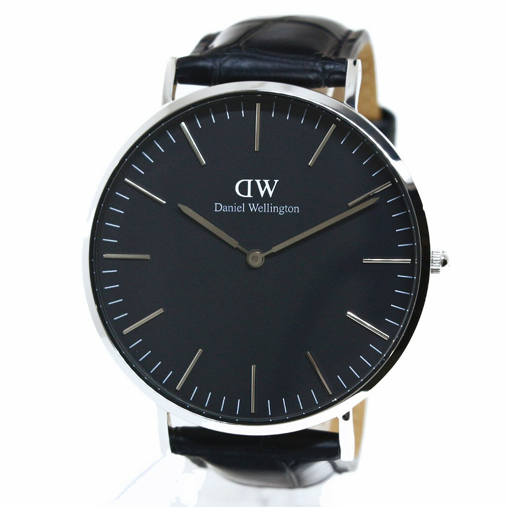 Daniel Wellington ダニエルウェリントン 腕時計 40MM 00100135DW Classic Black READING SILVER