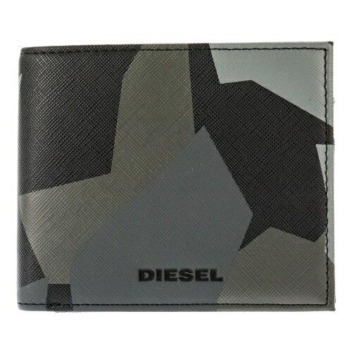DIESEL ディーゼル 二つ折り財布 X03370 P0408 H6180 グレーカモフラージュ