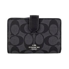 COACH OUTLET コーチ アウトレット 二つ折り財布 レディース ブラック F23553 SVDK6