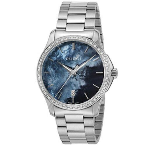 【5%OFFクーポン対象商品】GUCCI グッチ 腕時計 メンズ Gタイムレス ブラックシェル YA126458 【guss】