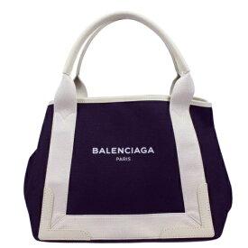 【52時間限定ポイント5倍】BALENCIAGA バレンシアガ トートバッグ NAVY CABAS S ネイビー ホワイト 339933 K9H1N 4092