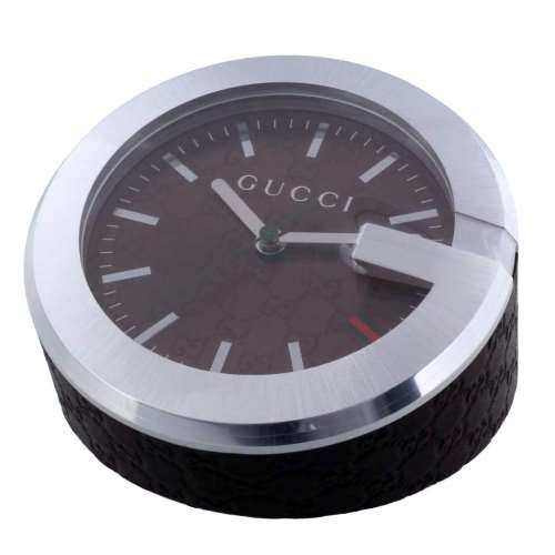 【48時間限定ポイント5倍 8/21 9:59まで】GUCCI グッチ 置時計 ブラウン YC210007