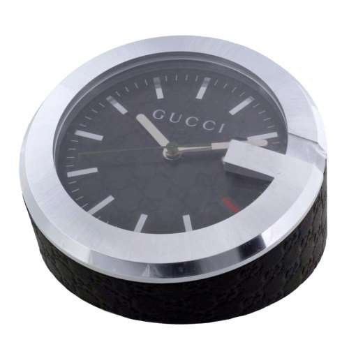 【48時間限定ポイント5倍 8/21 9:59まで】GUCCI グッチ 置時計 ブラック YC210008