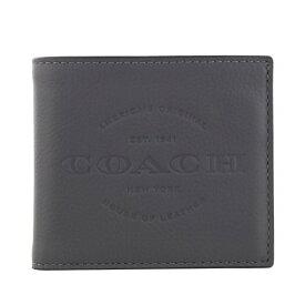 COACH OUTLET コーチ アウトレット 二つ折り財布 メンズ グレー F24647 GPH