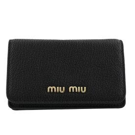 miu miu ミュウミュウ カードケース レディース ブラック 5MC011 2BJI F0UMV