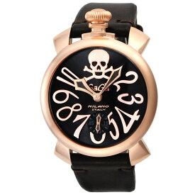 【28時間限定ポイント5倍】GaGa MILANO ガガミラノ 腕時計 メンズ MANUALE 48MM ブラック 5011.ART.01S.BRW