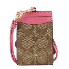 COACH OUTLET コーチ アウトレット パスケース カーキ ピンクルビー F63274 IMCMY
