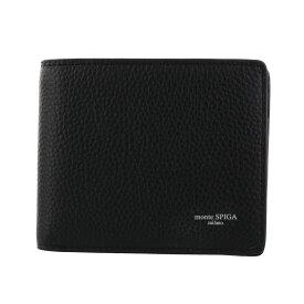 monte SPIGA モンテスピガ 二つ折り財布 メンズ ブラック MOSMSP006 BLACK