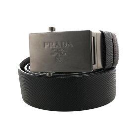 PRADA プラダ ベルト メンズ 95cm SAFFIANO CUIR ブラック 2CM016 2FAD F0XCR NERO/CAFFE