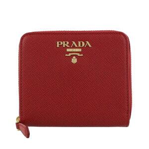 PRADA プラダ 二つ折り財布 レディース レッド 1ML036 QWA F068Z FUOCO