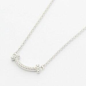 Tiffany&Co. ティファニー ネックレス レディース Tスマイル ミニ ダイヤ 62617802