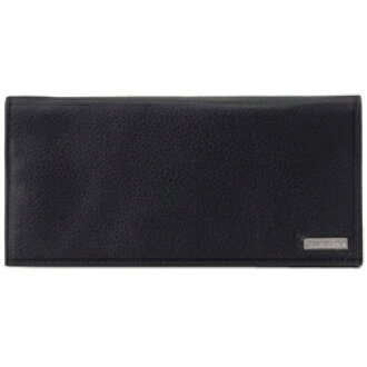 Calvin Klein 79219 logo plate long label fastener wallet black