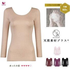 ワコール スゴ衣 天綿 ふわ暖 八分袖 ネックライン浅めタイプ MLサイズ/ あったかインナー wcl-sugl
