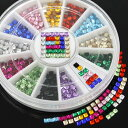 【メール便可】スクエア アクリルラインストーン 12色セット (2mm) :ジェルネイル ネイル レジンにもおすすめ!!レジ…